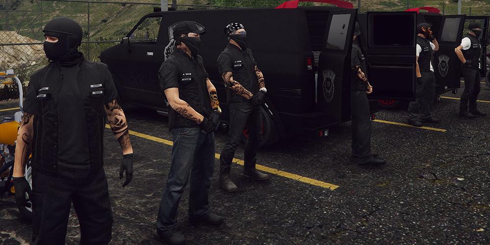 Es gibt Gangs auf Roleplay Servern