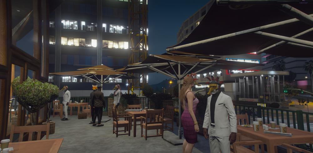 Menschen in einer Bar in GTA Online