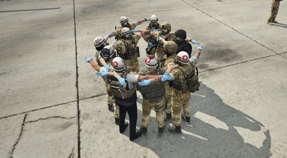 Soldaten in einem Kreis in GTA 5