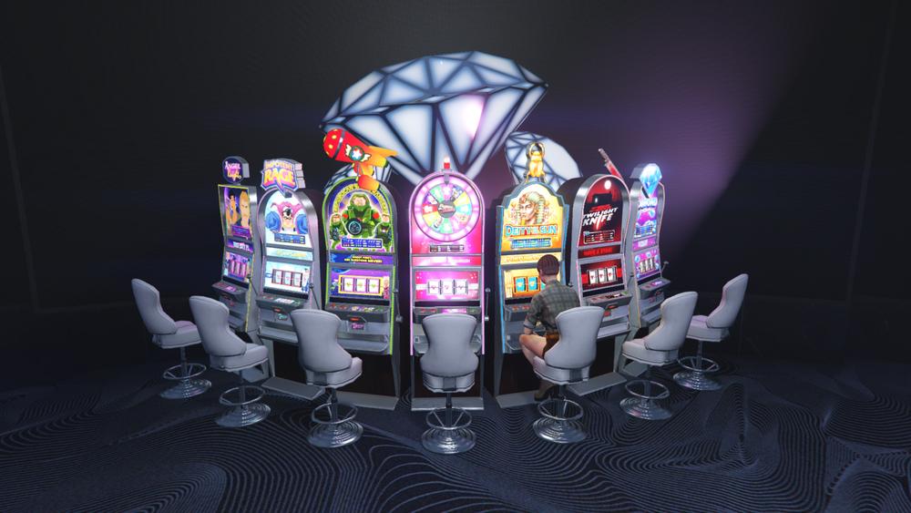 Leuchtende Slotmaschinen in GTA