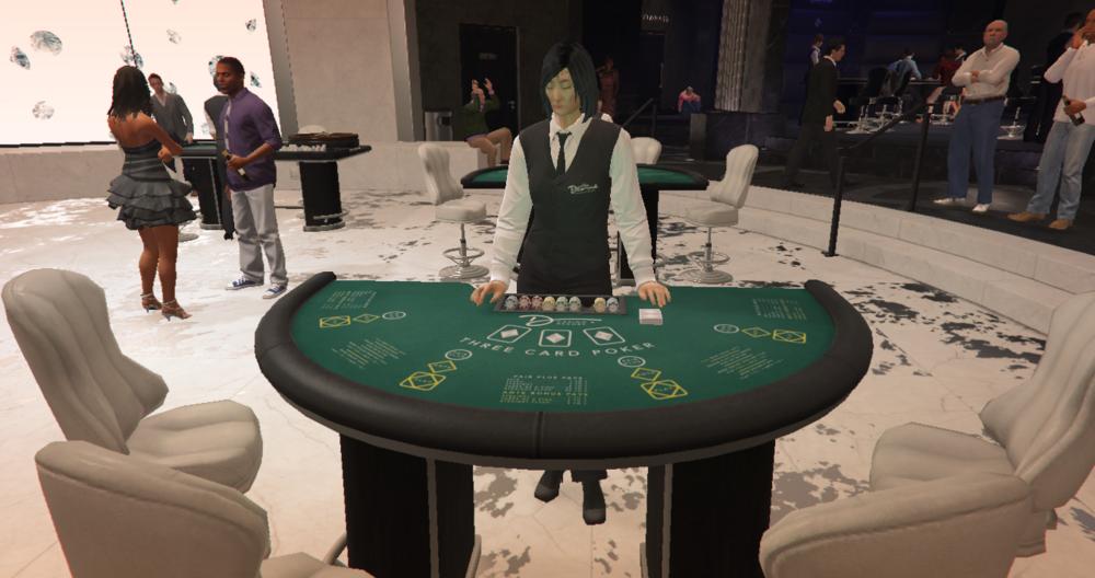 Spieler können sich in GTA Online am Pokertisch vergnügen