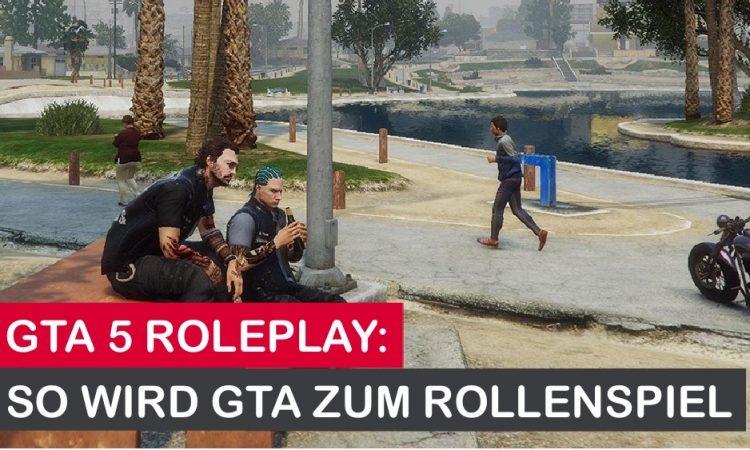Menschen gehen ihrem Alltag im GTA Rollenspiel nach